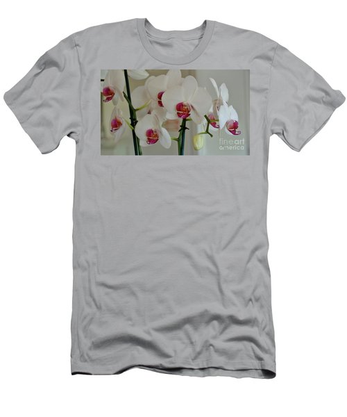 White Orchid Mothers Day Men's T-Shirt (Slim Fit) by Marsha Heiken