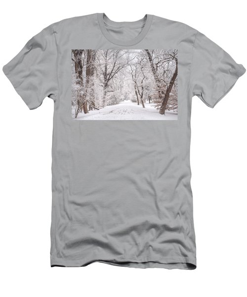 Men's T-Shirt (Athletic Fit) featuring the photograph White Path To Winter Dream by Jenny Rainbow