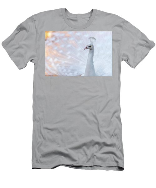 Men's T-Shirt (Slim Fit) featuring the photograph White Peacock by Sebastian Musial