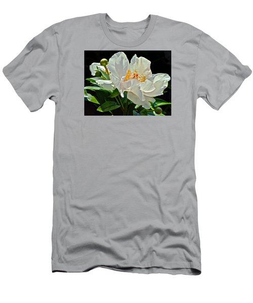 White Peony Men's T-Shirt (Athletic Fit)