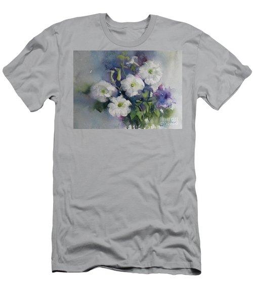 White Petunias Men's T-Shirt (Slim Fit)