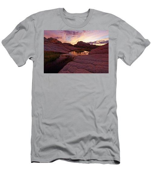 White Pocket Sunset Men's T-Shirt (Slim Fit) by Jonathan Davison
