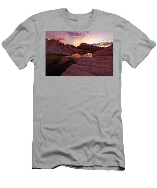 Men's T-Shirt (Slim Fit) featuring the photograph White Pocket Sunset by Jonathan Davison