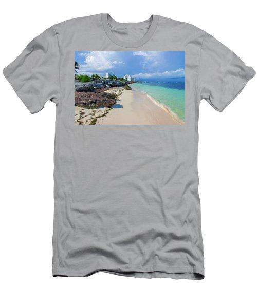 White Sandy Beach Of Cancun Men's T-Shirt (Athletic Fit)