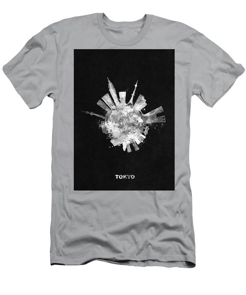 White Skyround / Skyline Art Of Tokyo, Japan Men's T-Shirt (Athletic Fit)