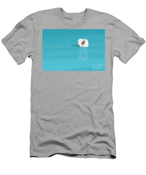 White Swan Blue Lake Men's T-Shirt (Athletic Fit)