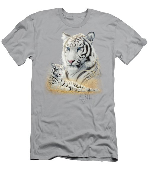White Tiger Men's T-Shirt (Slim Fit) by Lucie Bilodeau