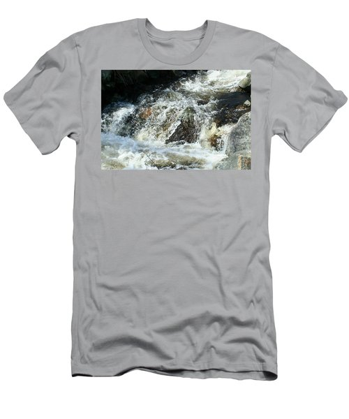 Men's T-Shirt (Slim Fit) featuring the digital art White Water by Barbara S Nickerson
