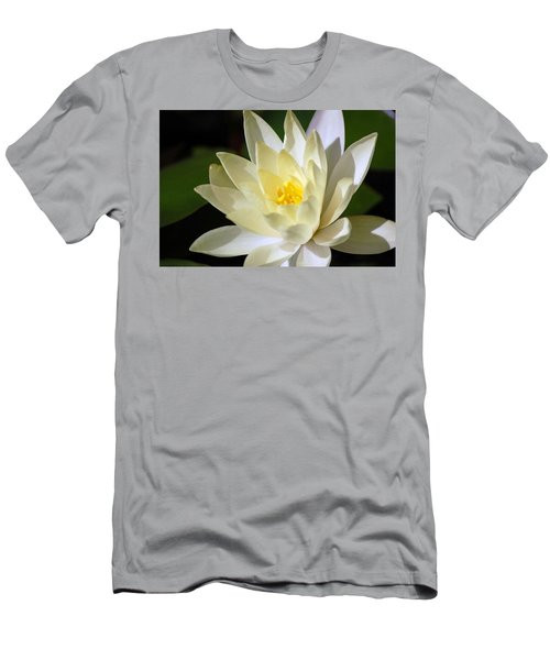 Men's T-Shirt (Athletic Fit) featuring the photograph White Water Lily by Donna Bentley
