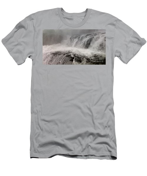 Men's T-Shirt (Slim Fit) featuring the photograph White Water by Raymond Earley