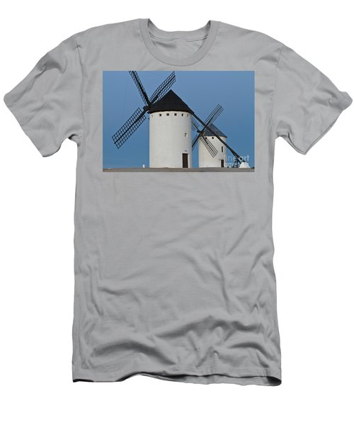 Men's T-Shirt (Slim Fit) featuring the photograph White Windmills by Heiko Koehrer-Wagner