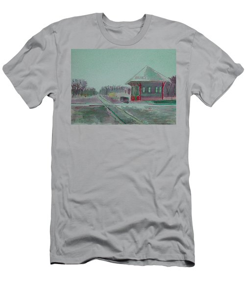 Whitewater Rail Station Men's T-Shirt (Athletic Fit)
