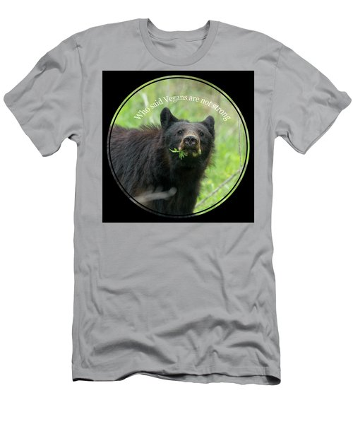 Men's T-Shirt (Athletic Fit) featuring the photograph Who Said Vegans Are Not Strong by Dan Friend