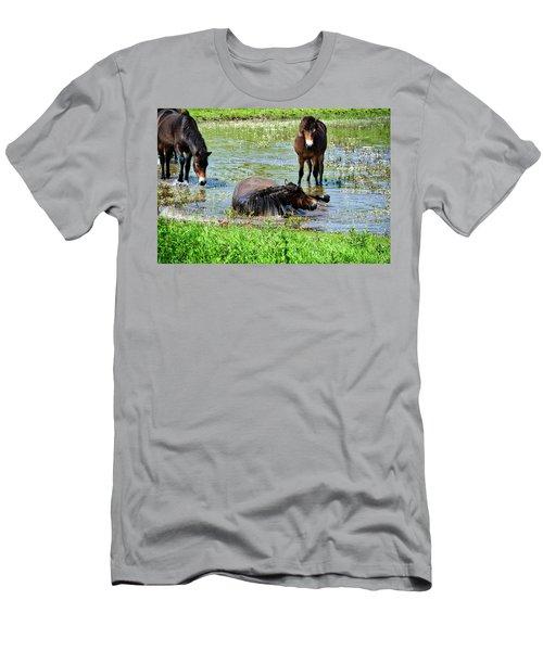 Wild Horses 3 Men's T-Shirt (Athletic Fit)