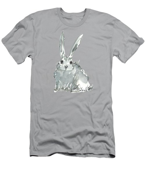 Wild Rabbit Watercolor And Ink Painting By Kmcelwaine Men's T-Shirt (Athletic Fit)