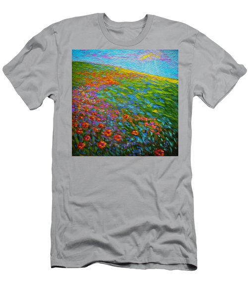 Wildflower Pastoral Men's T-Shirt (Athletic Fit)