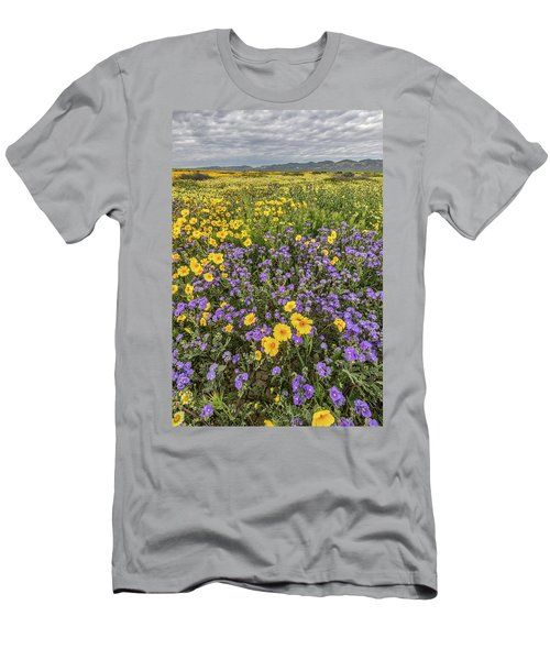 Men's T-Shirt (Slim Fit) featuring the photograph Wildflower Super Bloom by Peter Tellone