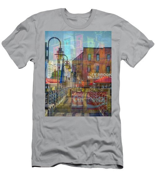 Wilmington North Carolina Riverfront Men's T-Shirt (Athletic Fit)