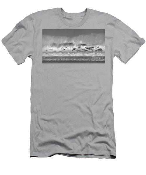 Men's T-Shirt (Slim Fit) featuring the photograph Wind Blown Waves by Nicholas Burningham