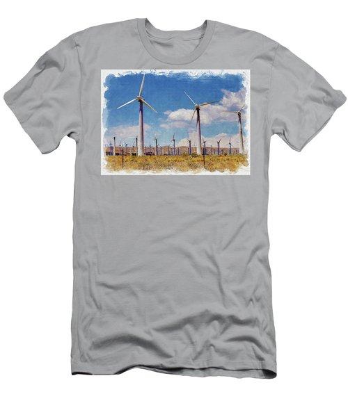 Wind Power Men's T-Shirt (Athletic Fit)