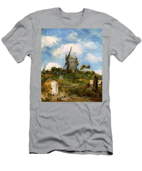 Windmill In Farm Men's T-Shirt (Athletic Fit)