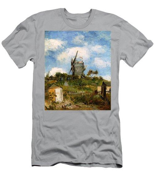 Windmill In Farm Men's T-Shirt (Slim Fit) by Sumit Mehndiratta