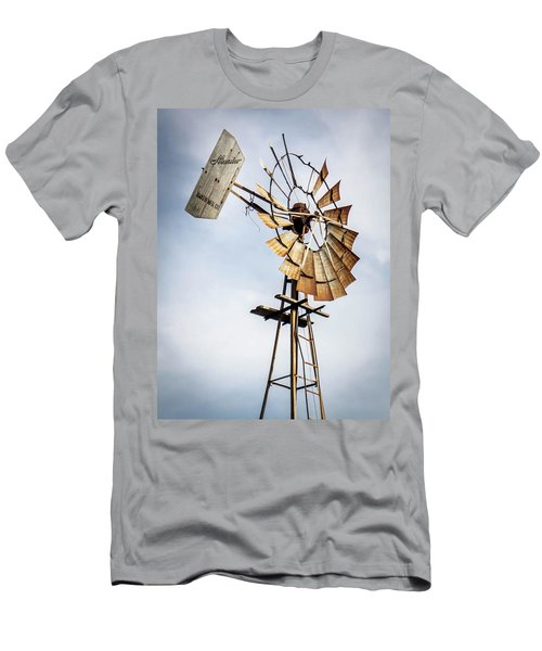Windmill In The Sky Men's T-Shirt (Slim Fit) by Dawn Romine
