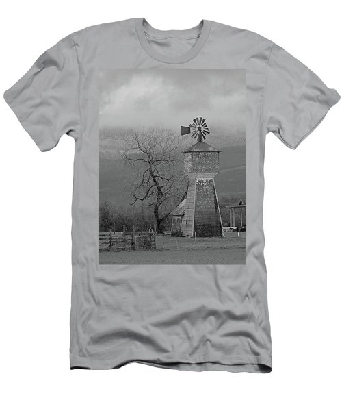 Men's T-Shirt (Slim Fit) featuring the photograph Windmill Of Old by Suzy Piatt
