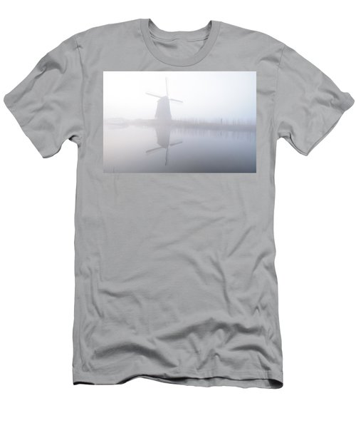 Men's T-Shirt (Slim Fit) featuring the photograph Windmill Reflection by Phyllis Peterson
