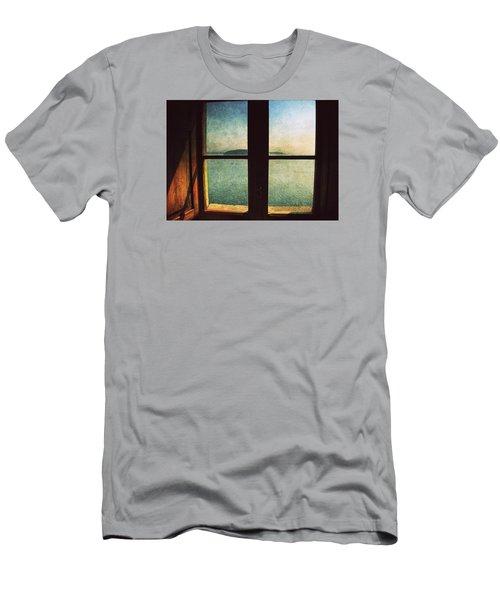 Window Overlooking The Sea Men's T-Shirt (Slim Fit) by Vittorio Chiampan