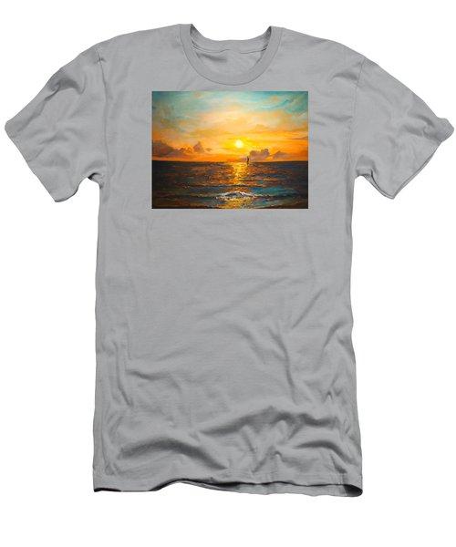 Windward Men's T-Shirt (Slim Fit) by Alan Lakin