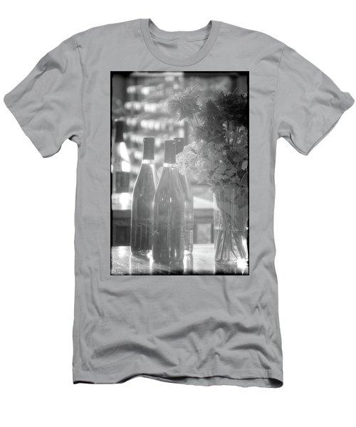 Wine Bottles Bw Vertical Men's T-Shirt (Athletic Fit)