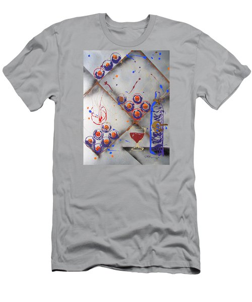 Men's T-Shirt (Slim Fit) featuring the painting Wine Connoisseur by J R Seymour