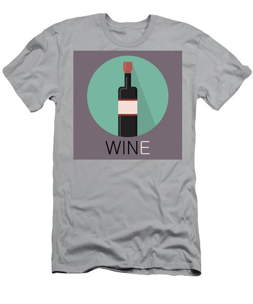 Wine Poster Print - Win And Wine Men's T-Shirt (Athletic Fit)