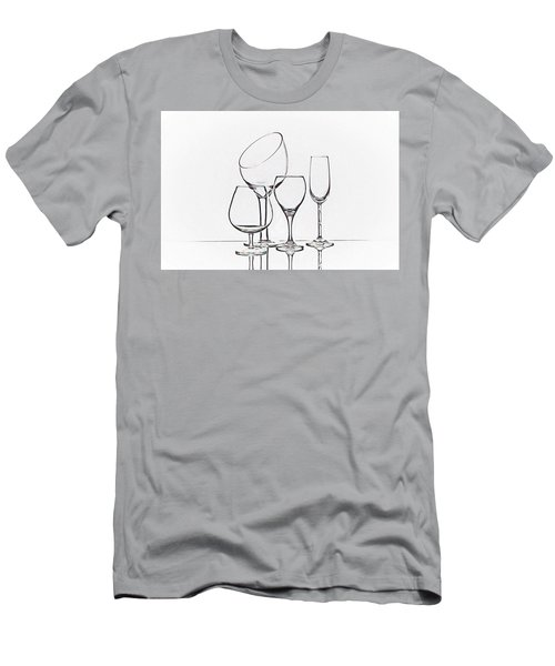 Wineglass Graphic Men's T-Shirt (Athletic Fit)