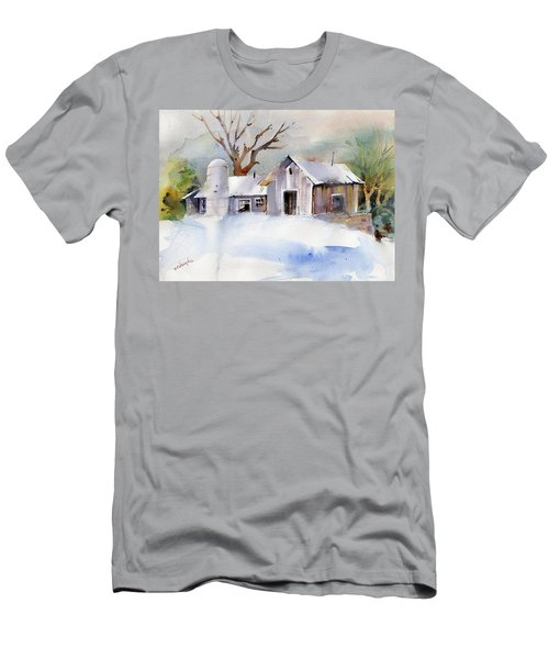 Winter Barn Men's T-Shirt (Slim Fit) by P Anthony Visco