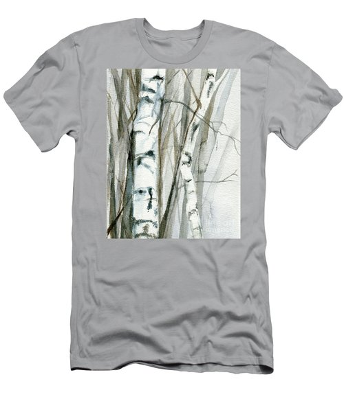 Winter Birch Men's T-Shirt (Slim Fit) by Laurie Rohner