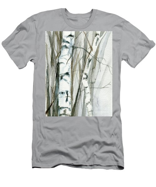 Winter Birch Men's T-Shirt (Athletic Fit)