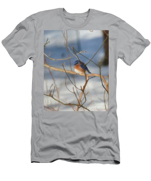 Winter Bluebird Art Men's T-Shirt (Slim Fit) by Smilin Eyes  Treasures