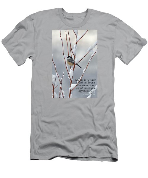 Winter Chickadee Giving Men's T-Shirt (Athletic Fit)