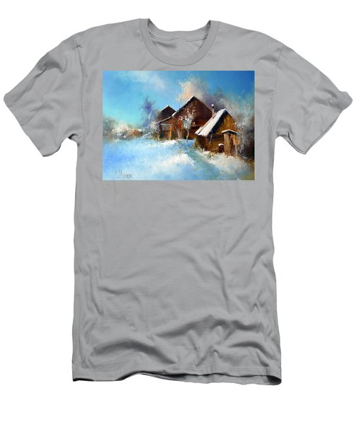 Winter Cortyard Men's T-Shirt (Athletic Fit)