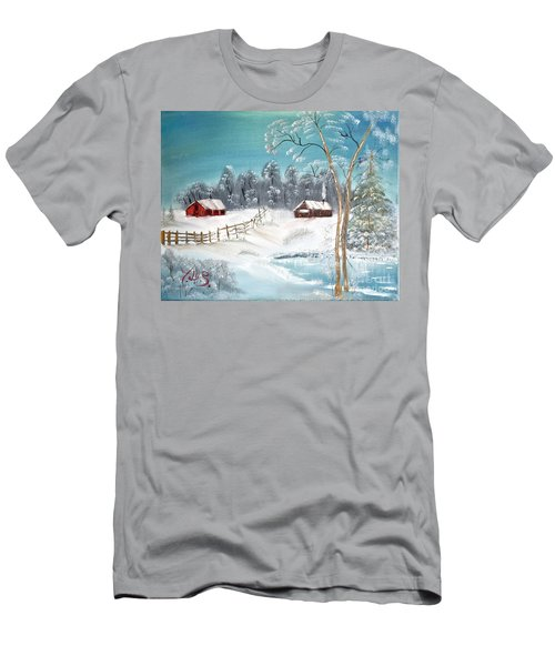 Winter Farm Men's T-Shirt (Athletic Fit)