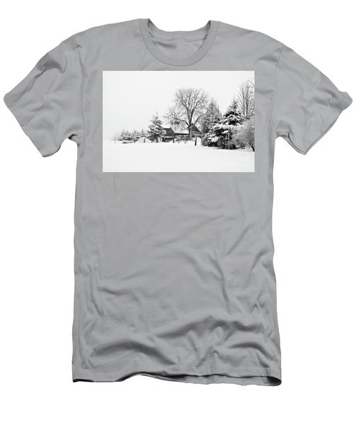 Winter In Black And White Fleckl, Germany 2 Men's T-Shirt (Athletic Fit)