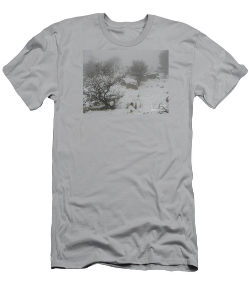 Men's T-Shirt (Slim Fit) featuring the photograph Winter In Israel by Annemeet Hasidi- van der Leij