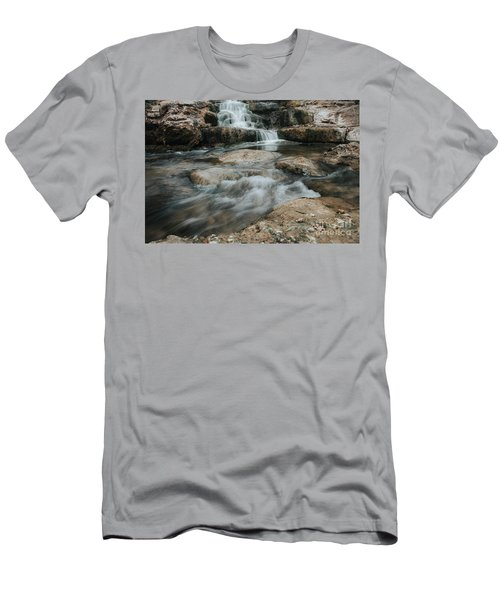 Winter Inthe Falls Men's T-Shirt (Athletic Fit)