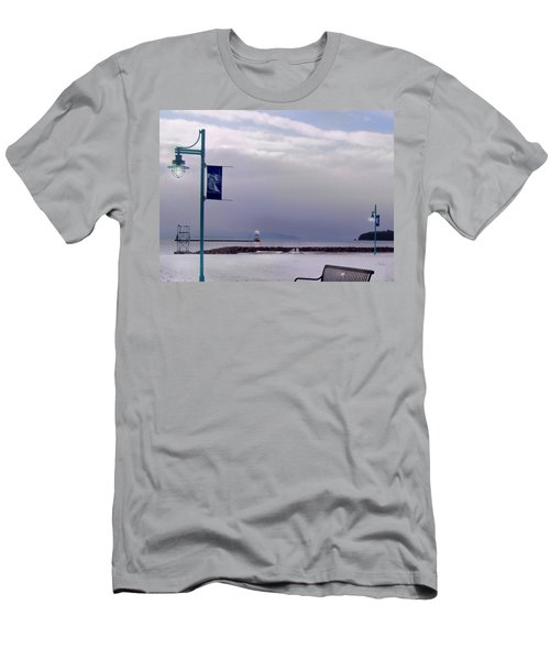 Winter Lights To Rock Point - Derivative Of Evening Sentries At The Coast Guard Station Men's T-Shirt (Athletic Fit)