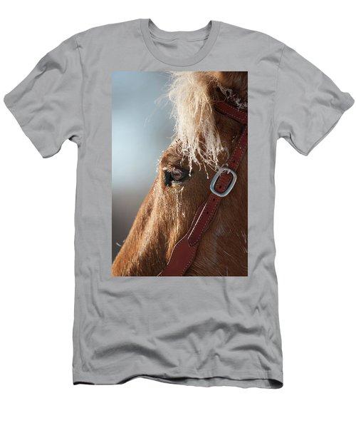 Winter Mustang Eye Men's T-Shirt (Athletic Fit)