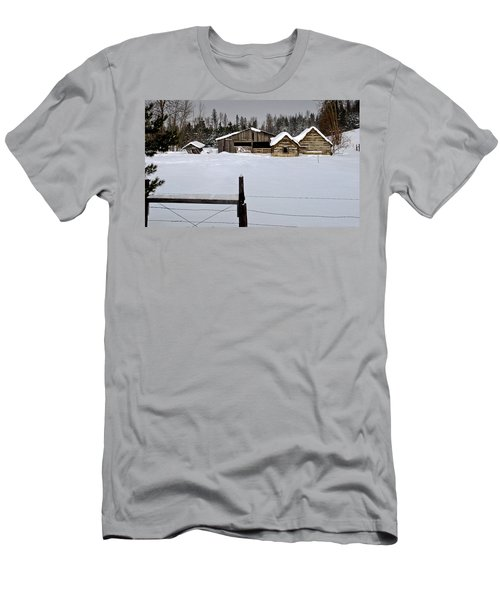 Winter On The Ranch Men's T-Shirt (Athletic Fit)
