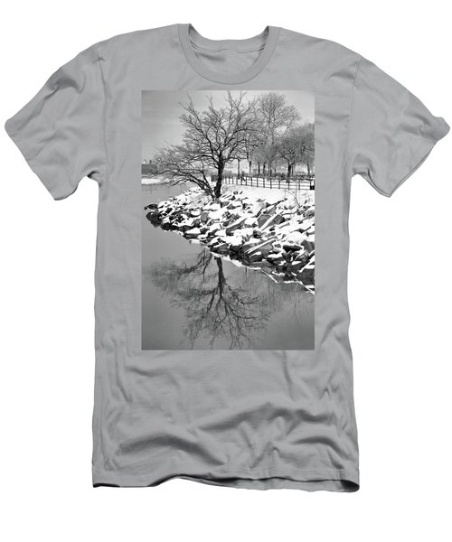 Winter Reflection Men's T-Shirt (Athletic Fit)