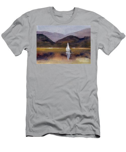 Winter Sailing At Our Island Men's T-Shirt (Slim Fit) by Randy Sprout
